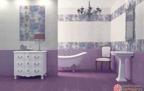 Дизайн кафеля в ванной: подбор
