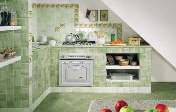 Дизайн кухни керамической