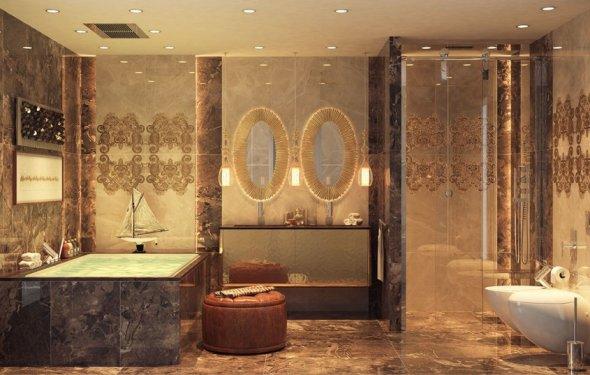 отделка ванны керамической